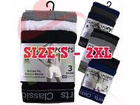 12 Pairs Mens Plain Classic Sports Cotton Rib Boxer Shorts Underwear Briefs Lot £12/Dozen Free Del