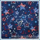 Blue White Star Fabric