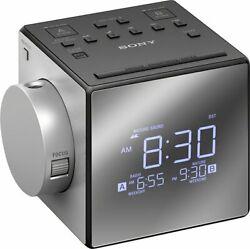Sony ICF-C1PJ AM/FM Dual Alarm Clock Radio Time Projection W/USB charger ICFC1PJ