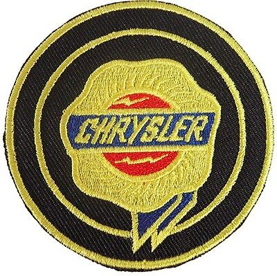 New Chrysler Logo Car Racing embroidered iron on patch. 2.6 inch (i23)