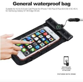 Universal Waterproof Phone Case Compass Pouch Dry Bag Cover For Mobile