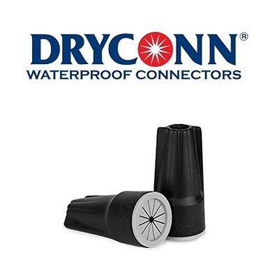 DryConn 61245 100 Pack Black/Gray Waterproof Connector Silicone King Innovation