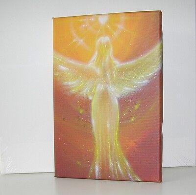 """Engel Bild Leinwanddruck """"Das Herz weiß es"""" Druck Leinwand Engelbild Wandbild"""