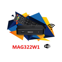 Latest IPTV MAG322W1 inbuilt wifi and hdmi cable.