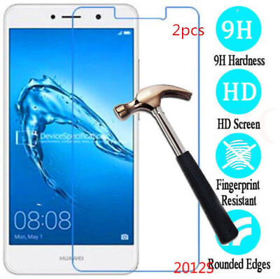 2x/Pack 9H Tempered Glass Screen Protector For Huawei Y3 Y5 Y6 Y7/ Y7 prime 2017