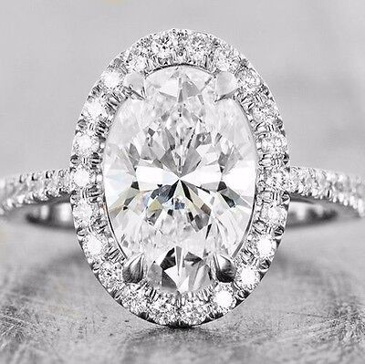1.80 Ct Oval Brilliant Cut Diamond Prong & U-Set Engagement Ring G,VS2 GIA 14K