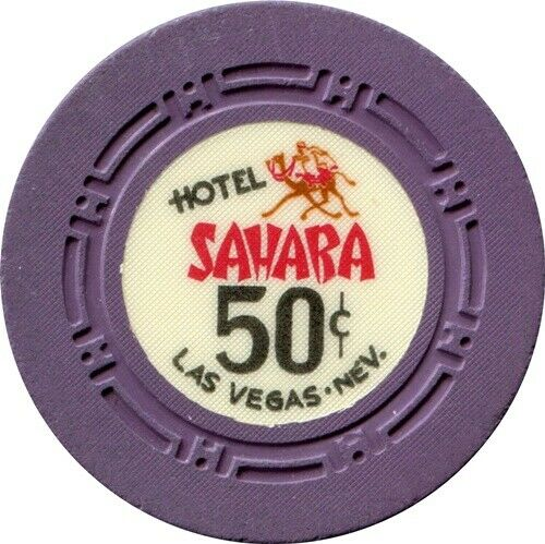 Sahara Casino, Las Vegas $.50 Casino Chip  NR MINT