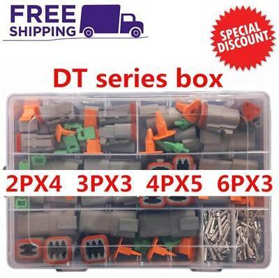 250pcs Waterproof Wire Connector Kit Deutsch Dt Series Dt06-2346s Electrical