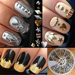 15 Packs Of Assorted Silver /Gold Alloy Studs -Nail or Phone Art Kitchener / Waterloo Kitchener Area image 1