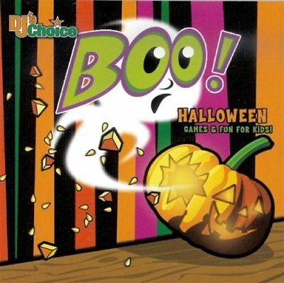 Dj's Choice  Boo! HALLOWEEN GAMES & FUN FOR KIDS (CD) New Sealed Ships 1st  Clas