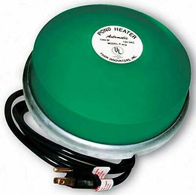 Premium Cast Aluminum Floating Pond 1,250 Watt Thermostatically Controlled NEW