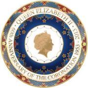 Queen Elizabeth Coronation Plate