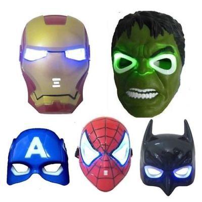 Avengers Superhelden Led Maske mit Sound Effects (Hulk, Iron-Man, Batman Usw)