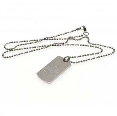 Official NEWCASTLE UNITED FC Engraved Dog Tag & Chain Necklace In A Gift Box