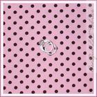 Pink Brown Polka Dot Fabric
