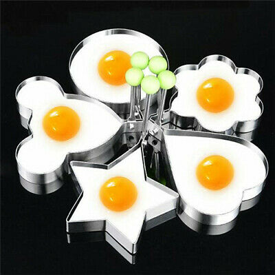 Stainless Steel Pancake Cooking Tool Egg Maker Cheese Egg Cooker Pan Egg Mold Cooking Eggs Stainless Steel Pan