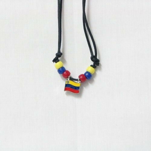 VENEZUELA  COUNTRY FLAG SMALL METAL NECKLACE CHOKER .. NEW