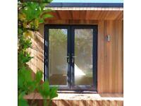 DARK GREY UPVC FRENCH DOORS BRAND NEW 1400MMX2100MM