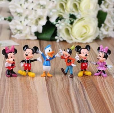 Disney Studio Mickey Mouse Clubhouse Minnie Donald Figure Toys Cake Toppers 6Pcs (Minnie Mouse Stuff)