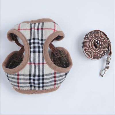 soft breathable pet dog vest harness leather