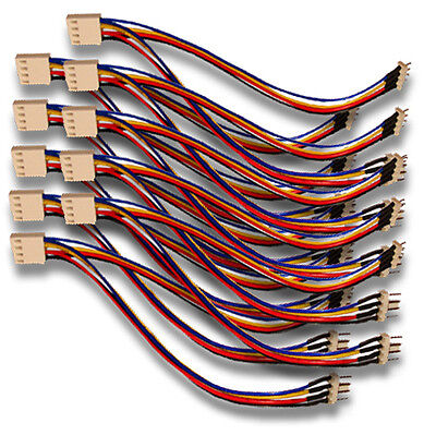 "Used, 10 Qty 4 pin PWM Fan Splitters Y Cable Female 4 pin PWM to 2 Male 4 pin 6"" Long for sale  Shipping to India"