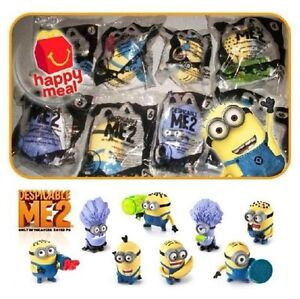 NEW COMPLETE SET MCDONALDS HAPPY MEAL 2013 DESPICABLE ME 2 MINION 8 TOYS
