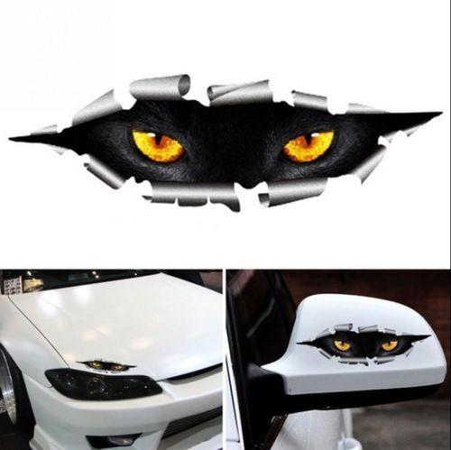 3D Car Styling Funny Cat Eyes Peeking Car Sticker Waterproof Auto Accessories 2X