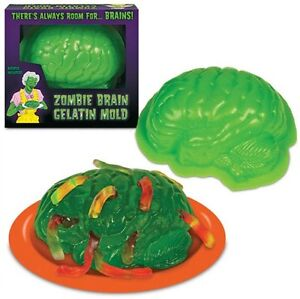 Zombie Brain Mold Halloween Gelatin Jello Walking Dead Party Edible Dessert