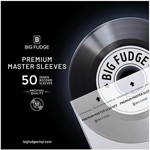 "Big Fudge Premium Master Vinyl Record Sleeves - 50x Inner Sleeves for 7"" Records"