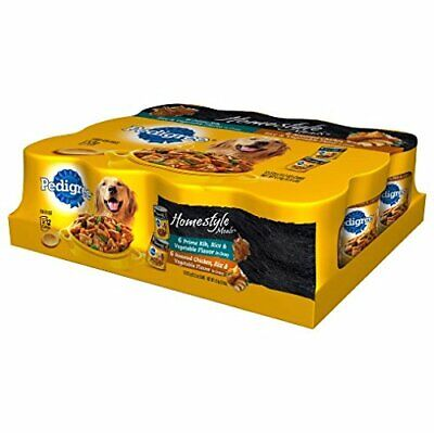 Pedigree Homestyle Meals Adult Canned Wet Dog Food Variety Pack, 13.2 Oz. Cans