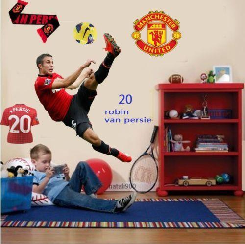 manchester united wall stickers ebay huge manchester united wall sticker removable huge soccer