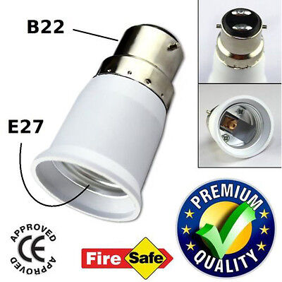B22 to E27 LED Halogen CFL Light Base Bulb Lamp Adapter Converter Holder Socket for sale  UDAIPUR