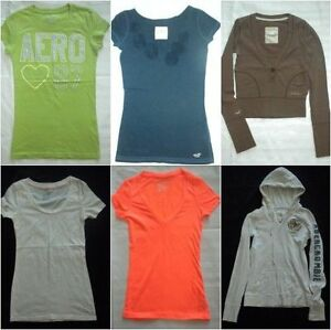 Lot Of 6 Juniors Hoodie T Shirts XS S AE Hollister  Abercrombie