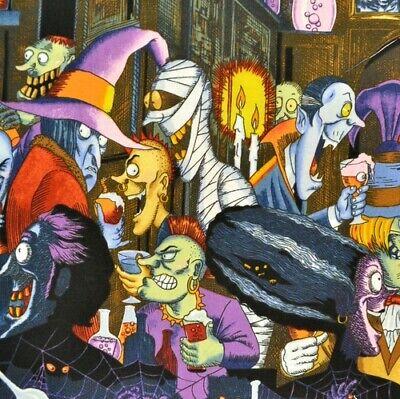 1m Unhappy Hour Multi, natural PER METRE halloween zombie skeleton frankenste...](Unhappy Halloween)