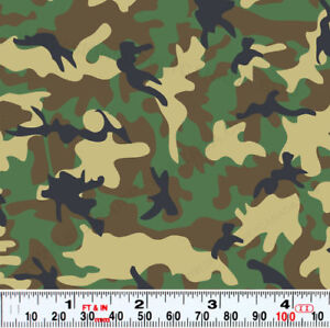 "Army Camouflage patterned sign sticker vinyl film 12""x14"" sheet"