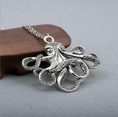 Octopus Necklace Steampunk Nautical Squid Kraken Pirate anti