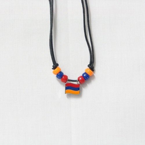 ARMENIA COUNTRY FLAG SMALL METAL NECKLACE CHOKER .. NEW