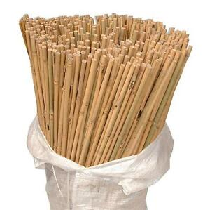 50 x 6ft Heavy Duty Bamboo Garden Canes Strong Thick Quality Plant Support