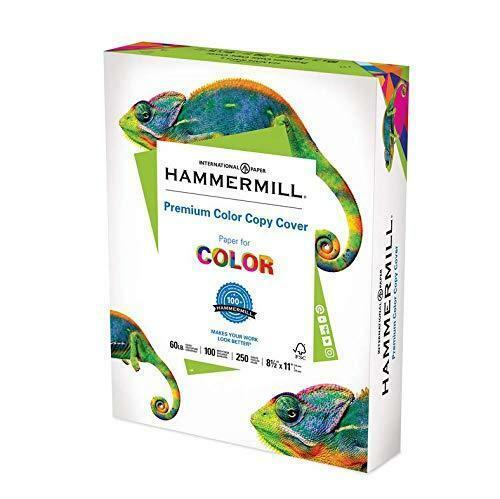 Hammermill Cardstock, Premium Color Copy, 60 lb, 8.5 x 11 - 1 Pack (250 Sheets)