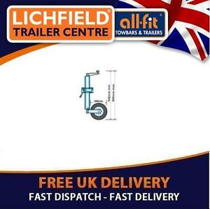 JOCKEY-WHEEL-48mm-INC-CLAMP-200mm-Knott-H-Duty-Free-Postage-for-trailer-caravan