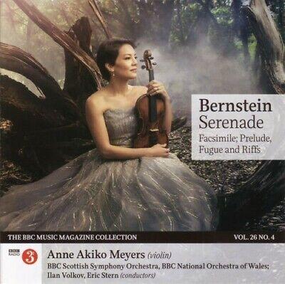 BERNSTEIN SERENADE CD FROM THE BBC MUSIC MAGAZINE VOL 26 NO4 - AS NEW - FREE P&P