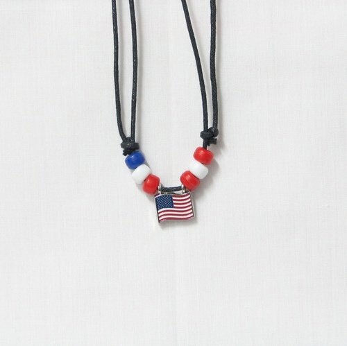 USA  COUNTRY FLAG SMALL METAL NECKLACE CHOKER .. NEW