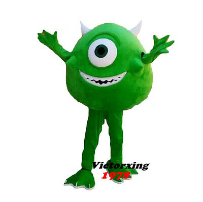 Mike Monster Mascot Costume from Mike University Adult Costume Free Shipping (Monster University Costume)
