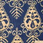 Blue Ikat Upholstery Fabric
