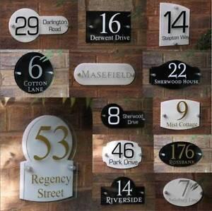 signe num ro de porte maison rue nom adresse plaque verre. Black Bedroom Furniture Sets. Home Design Ideas