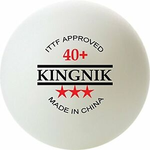 NEW Table Tennis Balls KINGNIK 3-Star Seamless 40+. Pack of 12