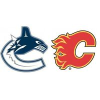 2 Calgary Flames vs. Vancouver Canucks tickets - Only $200/pair