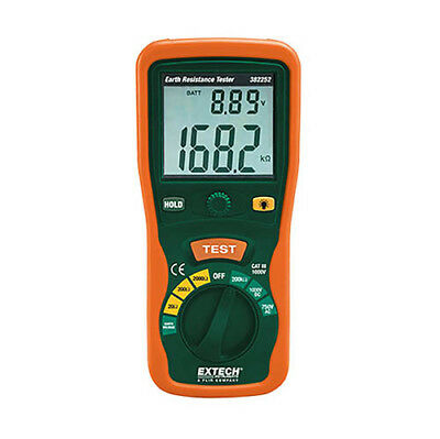 Extech 382252 Earth Ground Resistance Tester Kit Includes All Hardware