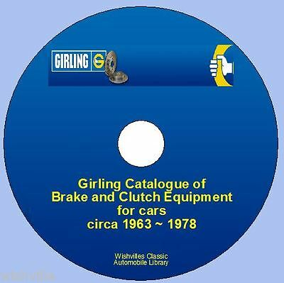 Girling Brake & Clutch Information 1963 ~ 1978 CD ROM