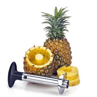 Stainless Steel Easy Kitchen Tool Fruit Pineapple Corer Slicer Cutter Peeler U.S